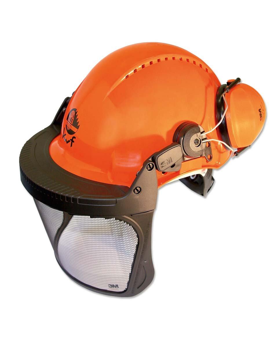 3M Forstschutzhelm mit Integriertem Visier Orange Forest XA007707376