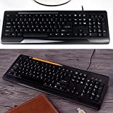 Wired Waterproof Keyboard,USB for Desktop and Notebook,Home/Office-A