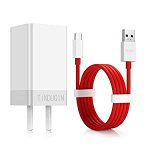 Tinduqin Oneplus6T Charger Oneplus6 Charger and Oneplus5T/5 Charger Dash Charger Type-C USB Data Cable Power Charger AC 5V 4A