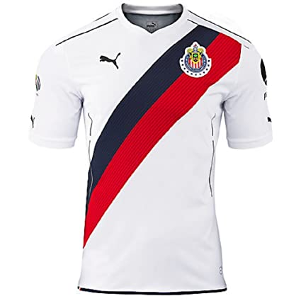 172c81dd3 Amazon.com   Puma Chivas AWAY 2016 17 Replica Jersey-WHITE   Sports ...