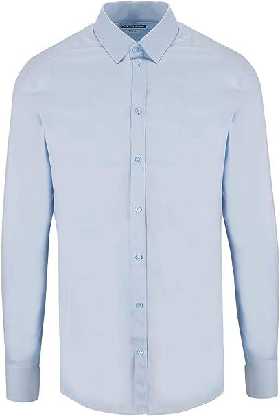 Luxury Fashion | Dolce E Gabbana Hombre G5EJ0TFUMRYB1581 Azul Claro Camisa | Temporada Permanente: Amazon.es: Ropa y accesorios