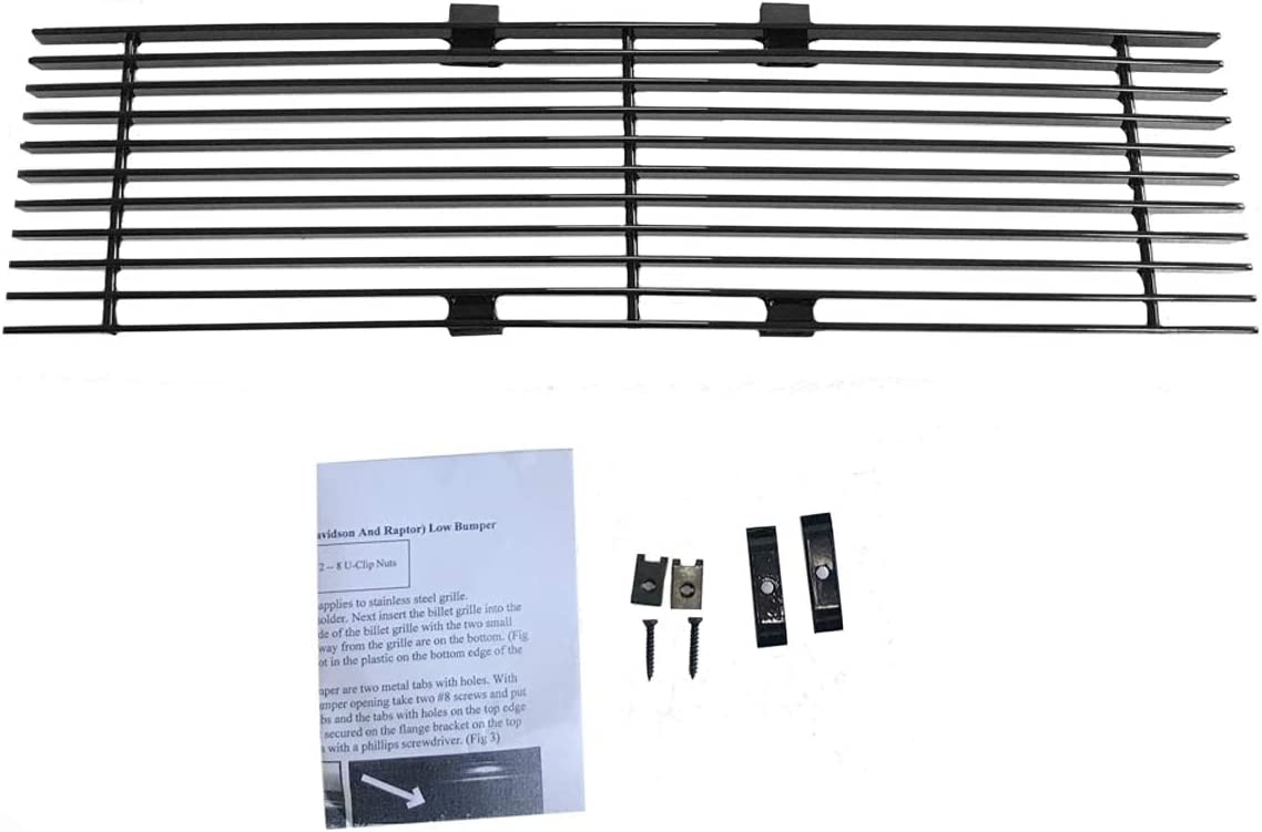 PARTS-DIYER Compatible With 2009-2014 Ford F150 Pickup Horizontal Billet Black Powder Coated Aluminum Grille Insert Lower Grill 1pcs