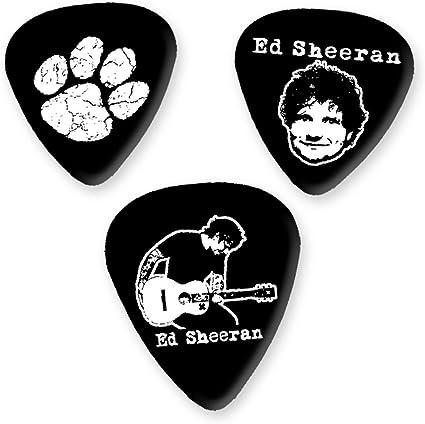 Ed Sheeran 3 x Guitarra Picken Plectrums bweg: Amazon.es ...