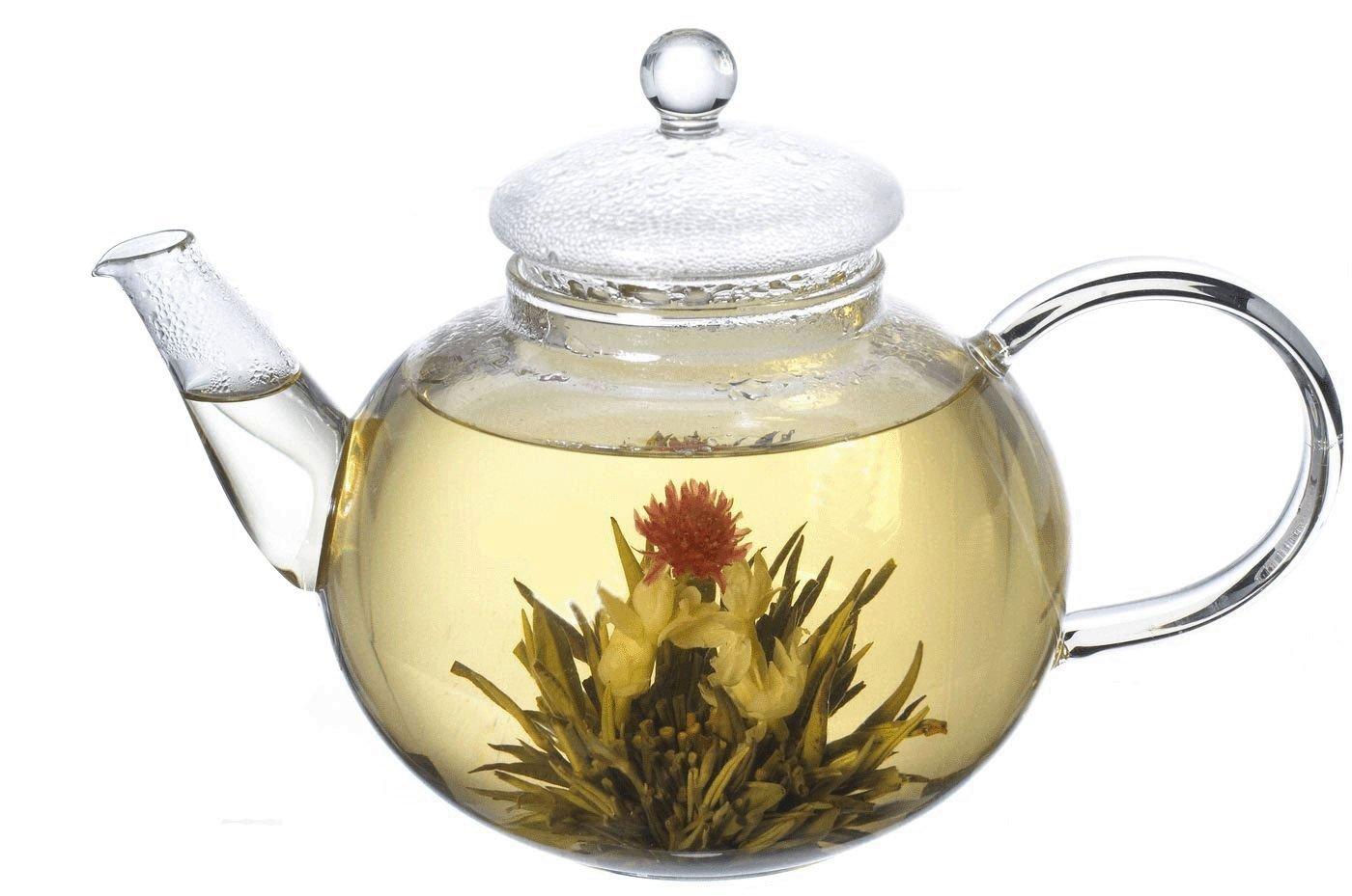 Lifeyz 250ml Teapot (8.6oz) One Cup of Tea Clear Small Glass Teapot Strainer Lid Heat Resistant Tea pot For Tea