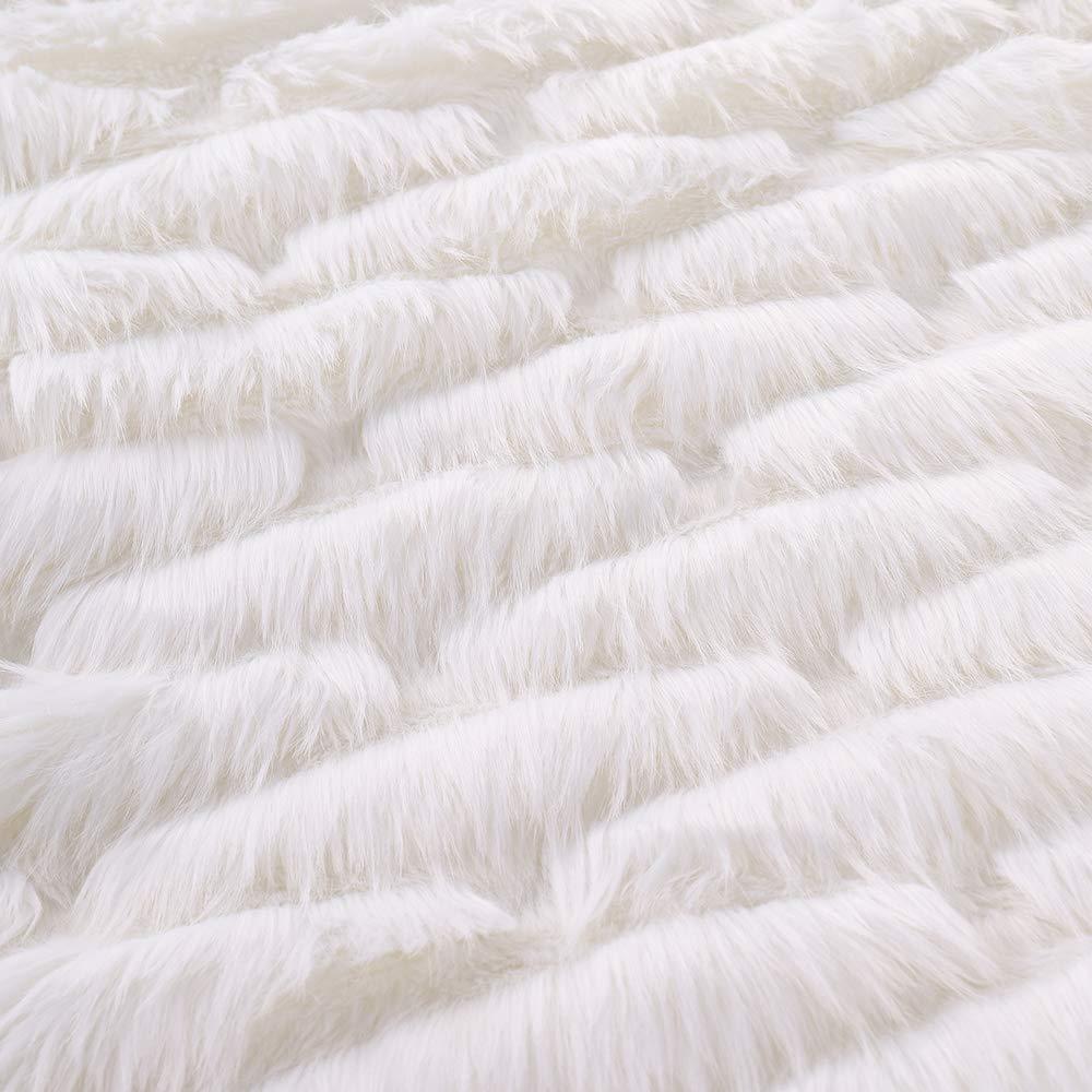 Battilo Fox Faux Fur Warm Elegant Cozy Throw Decorative Blanket Bed Sofa Blanket 51x67