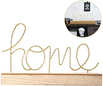 Decor Lights, Energy Saving Golden 'Home' Alphabet LED Decorative Light, Enhance Artistic Atmosphere for Living Rooms, Study Rooms, Shops, Bar, Offices and Other Places