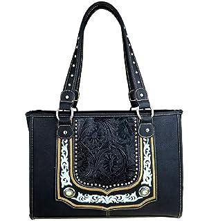 SS Flower Floral Bling Rhinestone Messenger Bag Cross Body Purse Wallet Set Jp Black