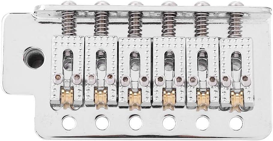 Tremolo System with Roller Single Locking Vibrato Bridge Tailpiece for ST Guitar Guitar Tremolo Bridge Silver