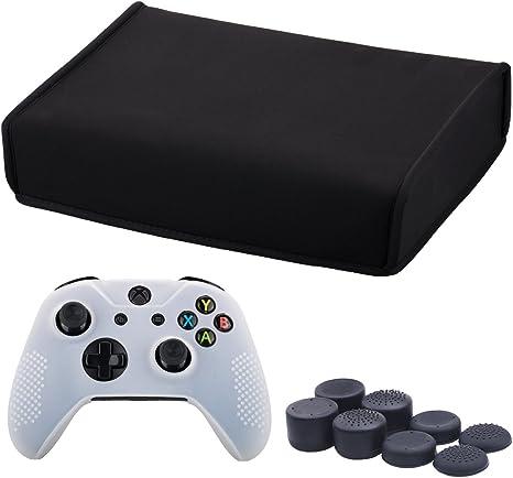 9CDeer Neopreno Suave Polvo de Tierra Cubierta Protectora Dust Cover Negro para Xbox One S Versión