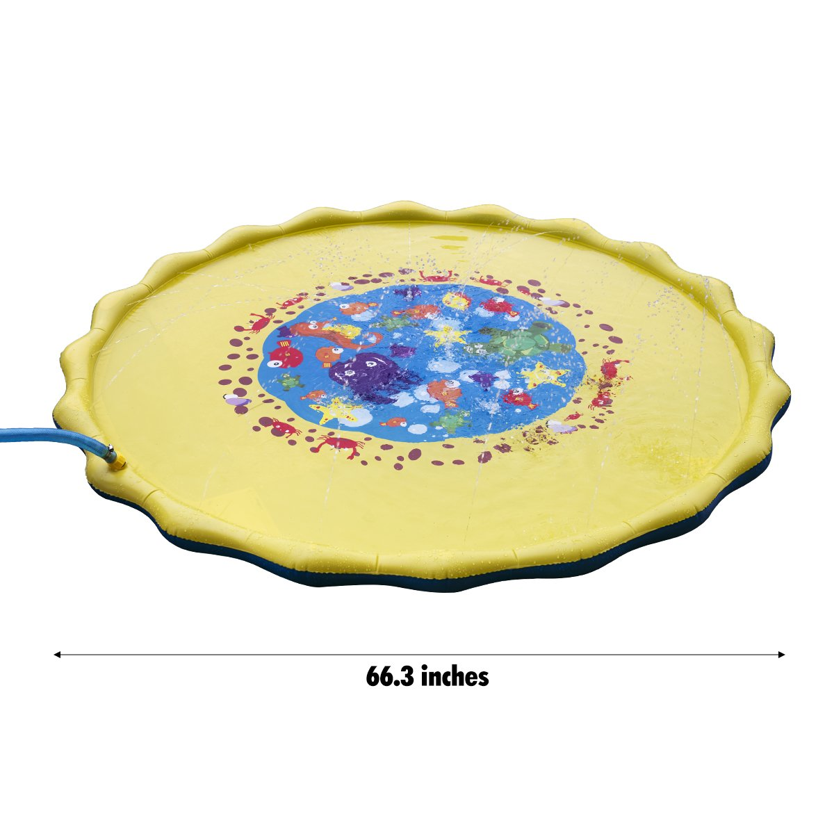 Splash Play Mat, 68in-Diameter Perfect Inflatable Outdoor Sprinkler Pad Summer Fun Backyard Play for Infants Toddlers and Kids by DAPRIL (Image #3)