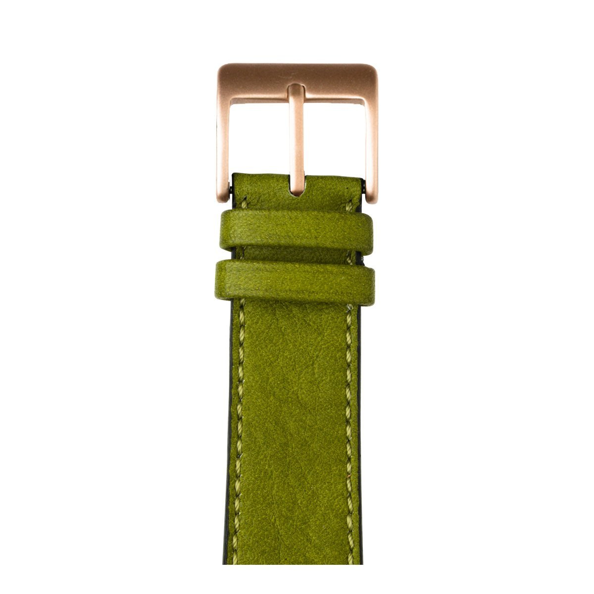 Roobaya | Premium Sauvage Leather Apple Watch Band in Moss Green | Includes Adapters matching the Color of the Apple Watch, Case Color:Rose Gold Aluminum, Size:38 mm