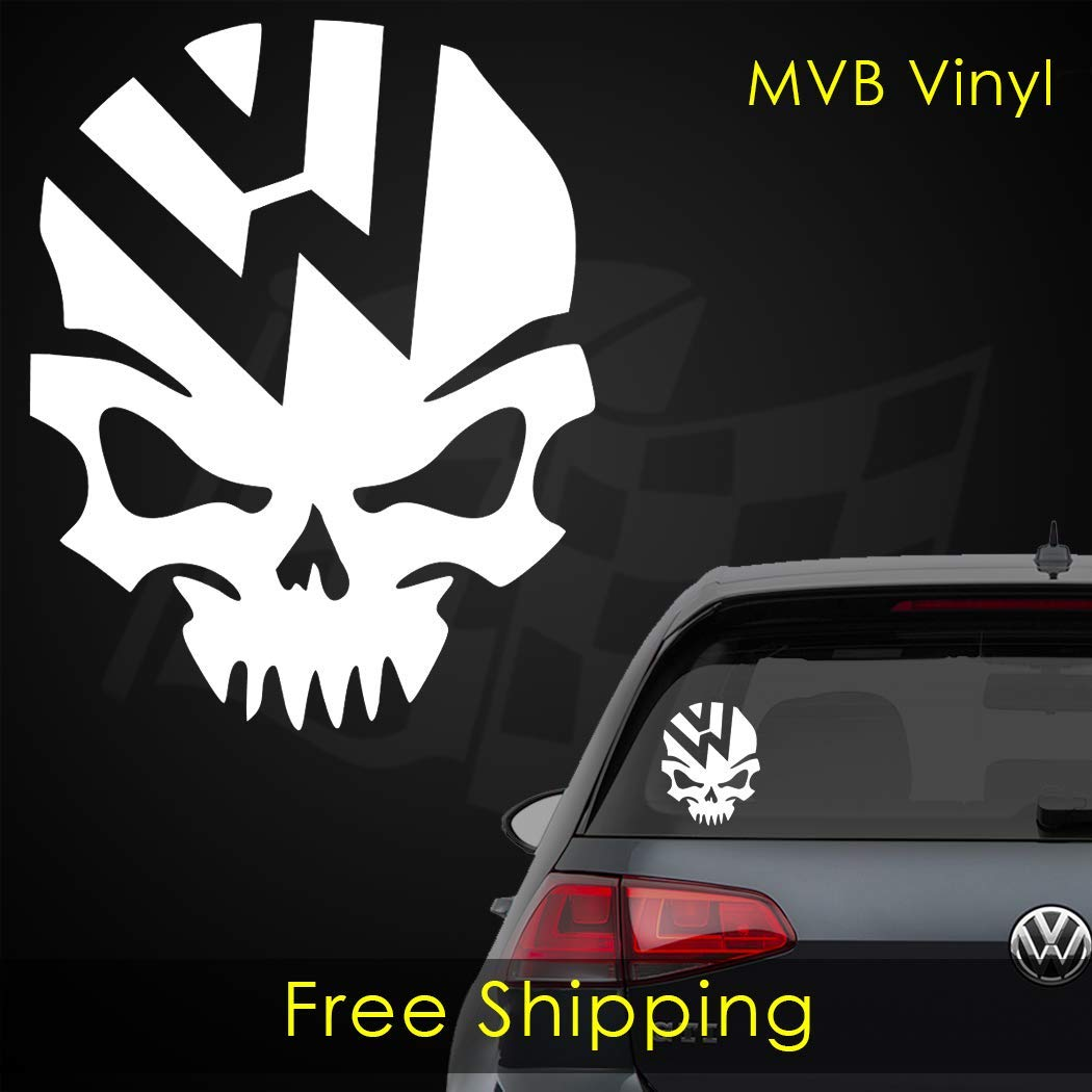VW Skull Vinyl Decal Window Sticker 0405