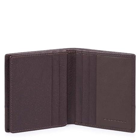 negozio online 8cebc 068c0 Piquadro Line Porta carte di credito, 10 cm, Testa di Moro