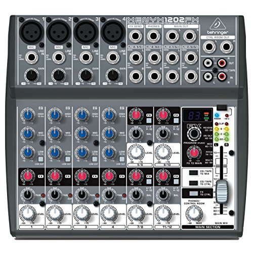 Behringer Premium XENYX 1202FX Mixer with 12 Inputs, XENYX Mic Preamps and Multi-FX Processor by Behringer