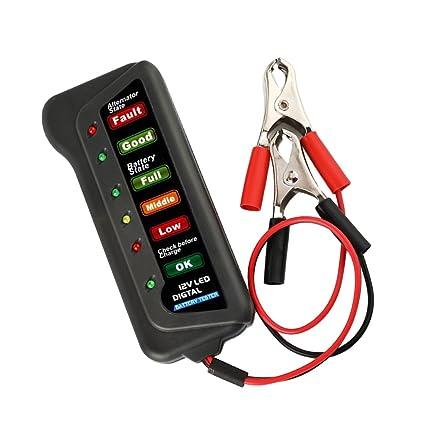 Cargador de Batería Digital 12V Alternador 6 Luces LED ...
