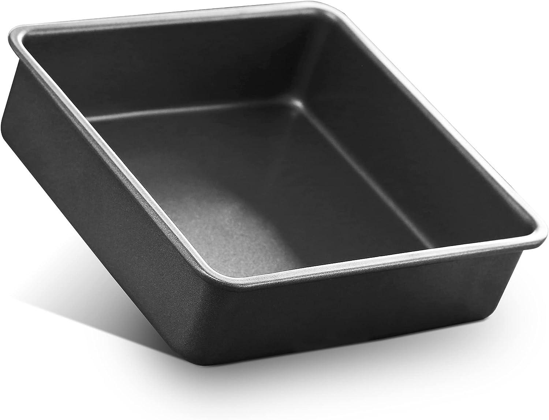 6 Inch Square Baking Pan, Square Cake Pan Stainless Steel Lasagna Brownie Pan, Toaster Oven Pan Deep Baking Pan