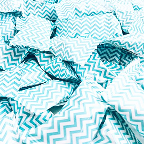 (Chevron Blue Buttermints - 13 oz. Bag - Approximately 100 Individually Wrapped Mints)