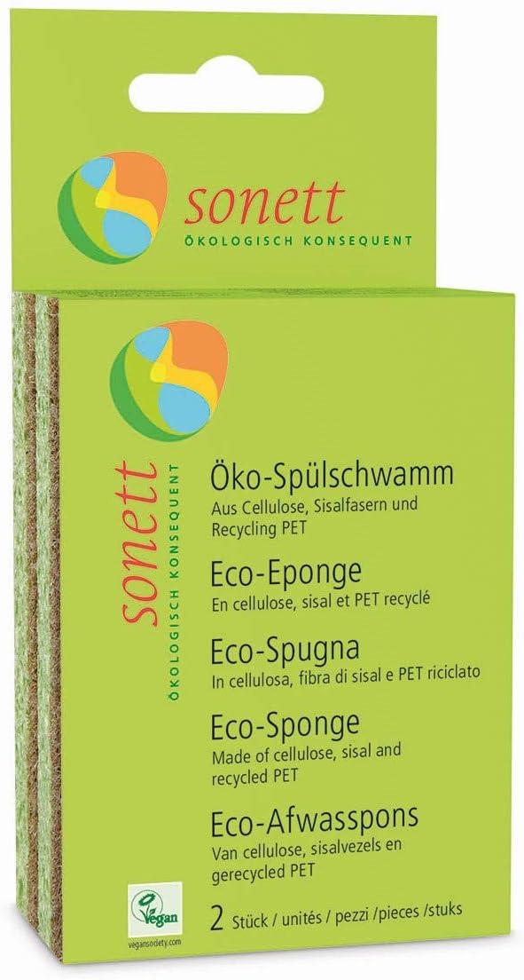 Sonett Natural Compostable Dishwashing Sponges (pack of 2)