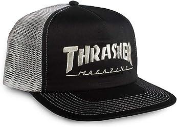 361f2e119a9 Thrasher Magazine Embroidered Skate Mag Logo Snapback Trucker Hat - Black  Silver