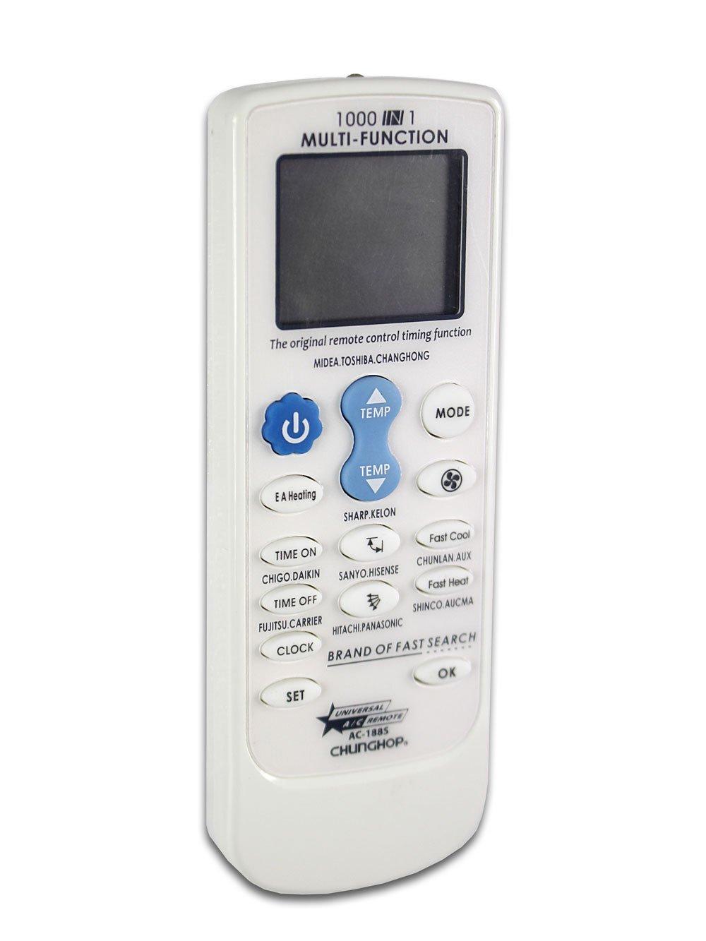 Vetrineinrete® Telecomando condizionatore universale per climatizzatore riscaldare o rinfrescare l'ambiente telecomando compatibile con ampio display e timer C42