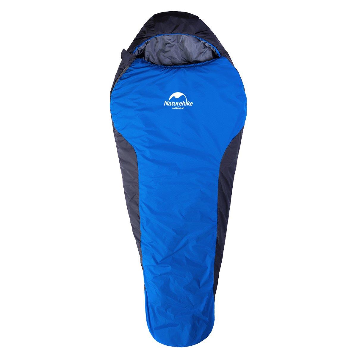Maturehike Saco de dormir momia para 3 estaciones para 0ºC, impermeable, ligero, transpirable y cómodo, para deporte, aventura, Camping (Azul-izquierda): ...