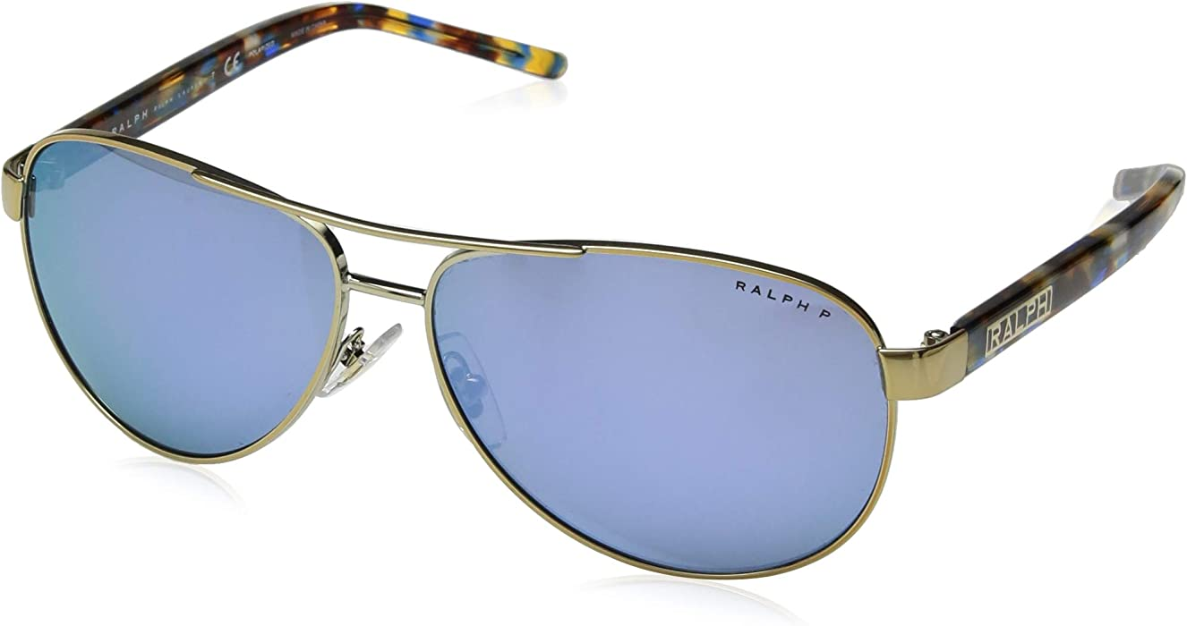 Ralph 0RA4004 Gafas de Sol, Light Gold 59 para Mujer: Amazon ...