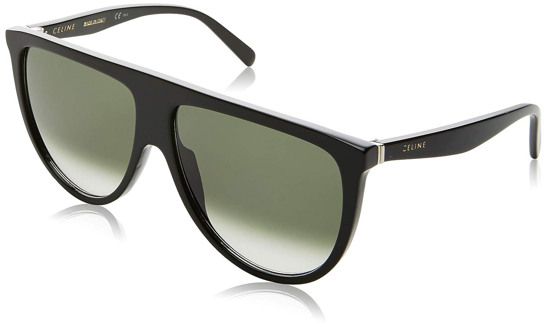 e18d02c6e4 Amazon.com  Celine 41435  S 0807 Black XM green degrade lens Sunglasses   Shoes