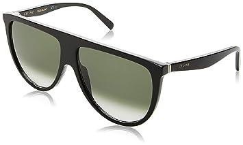 4aa761fb31e Amazon.com  Celine 41435  S 0807 Black XM green degrade lens ...