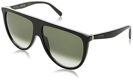 1e84f54c0504 Celine 41435  S 0807 Black XM green degrade lens Sunglasses  Amazon ...