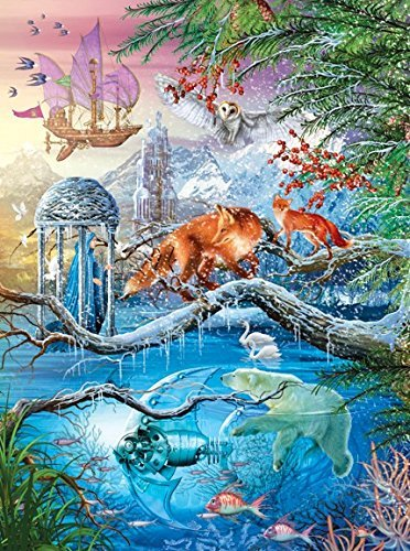 Shangri-la Winter Special Effect Holographic 1000 Piece Puzzle