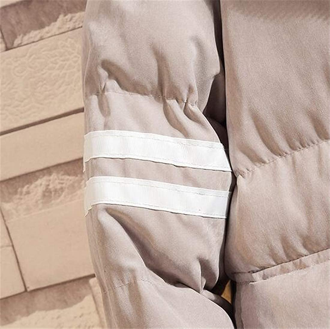 XiaoTianXinMen XTX Men Winter Casual Hooded Cotton Solid Thicken Striped with Pockets Puffer Jacket