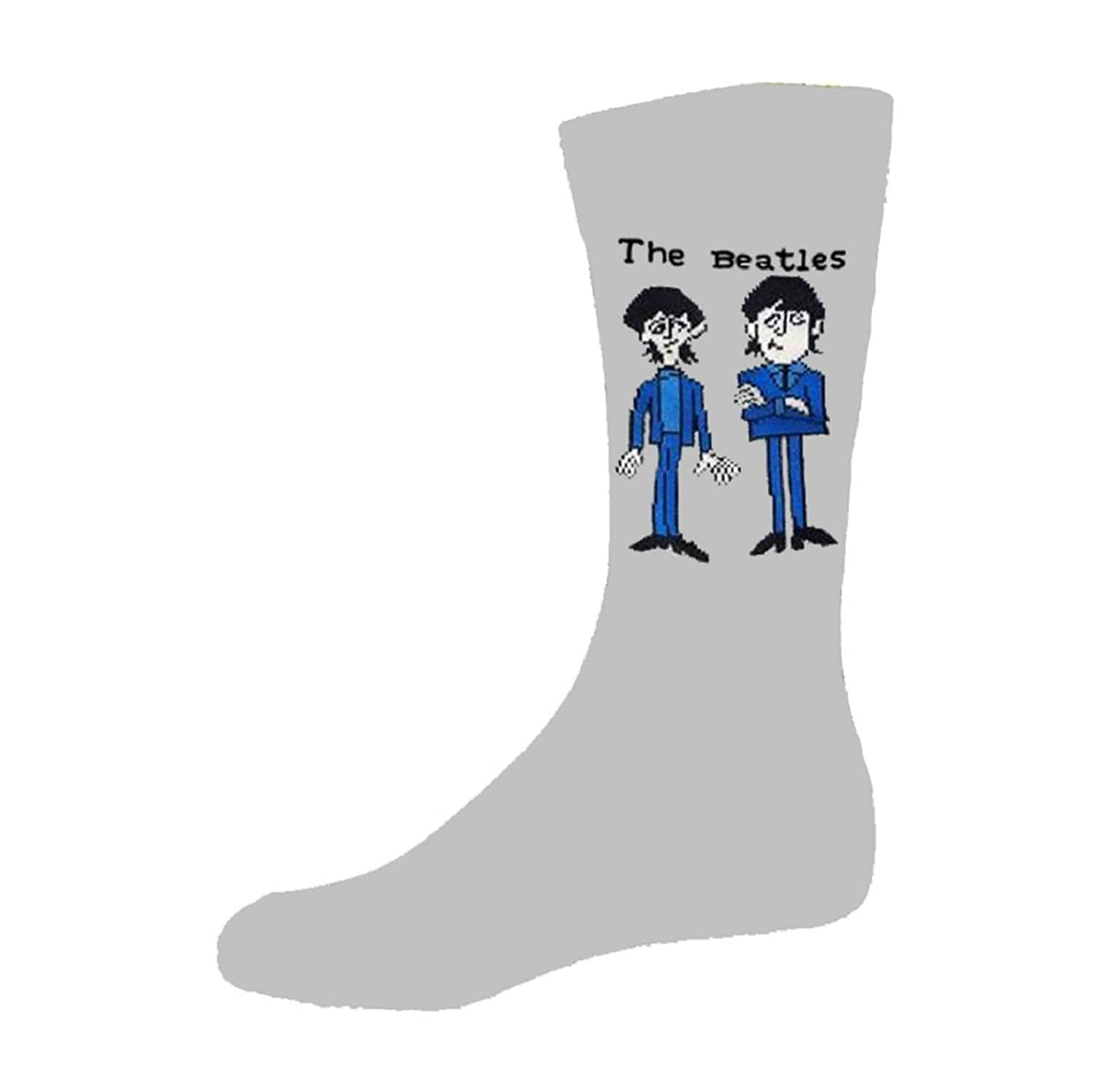 The Beatles Cartoon Group Standing Official Mens New Grey Socks (UK Size 7-11)