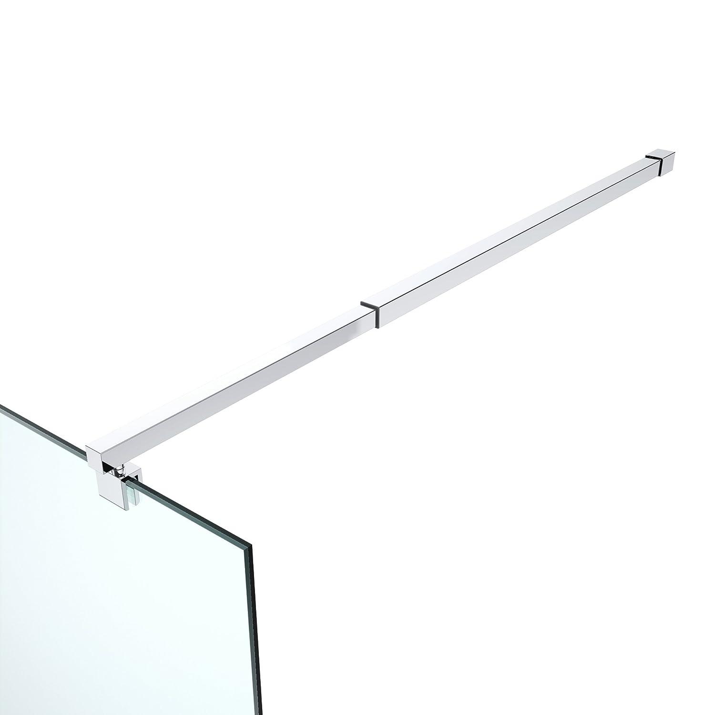 Stabilizzatore per parete in vetro, in acciaio inox, regolabile: 700-1200 mm, per vetro di spessore 6-10 mm, GS22 Metaltimex