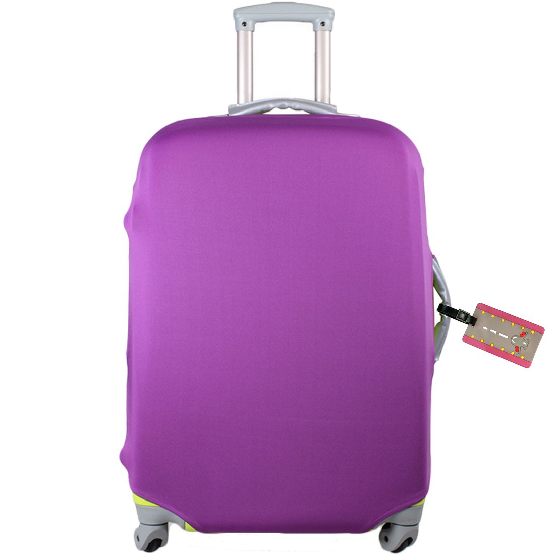 kilofly Travel Suitcase Trolley Case Cover Protector 18-30 Inch + Luggage Tag TBA502BLKs24