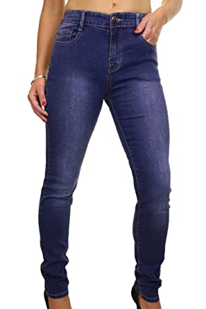 cfd552b9847 ICE (1522-1) Plus Size Stretch Denim Faded Legs Jeans Blue (8) at ...