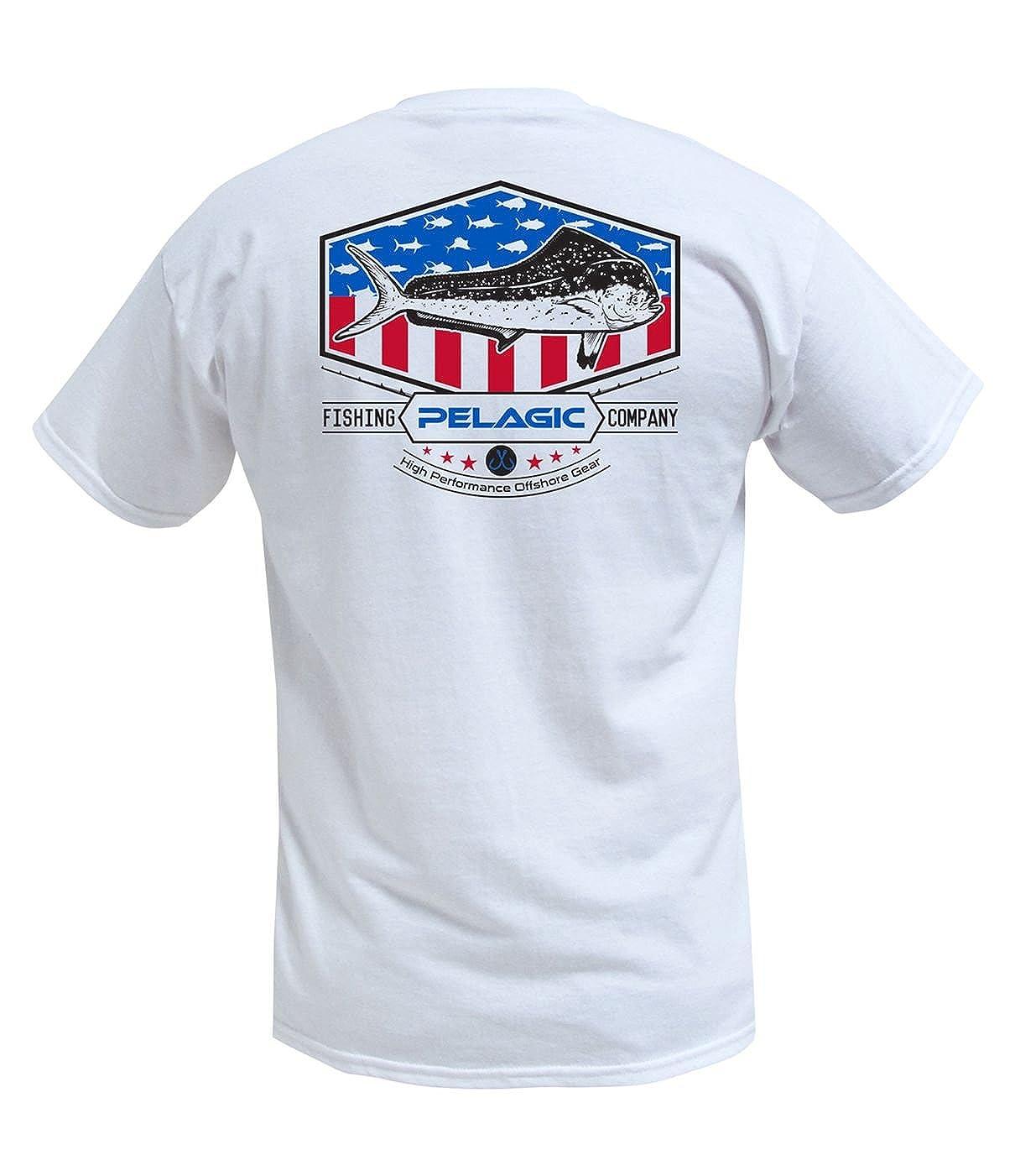 PELAGIC Boys Patriot Dorado Fishing T-Shirts