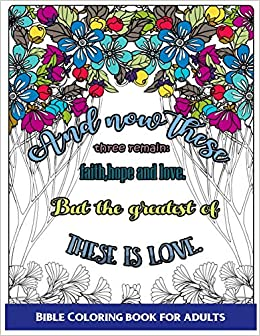 Bible Coloring Book For Adults: Inspirational Bible Verse ...