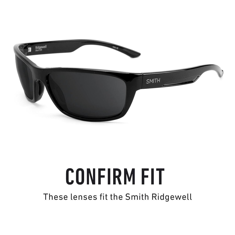 9b0fe8277c Amazon.com  Revant Polarized Replacement Lenses for Smith Ridgewell Elite  Black Chrome MirrorShield  Sports   Outdoors