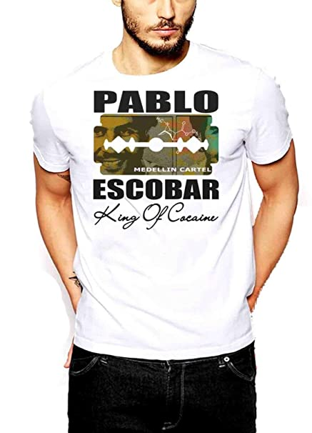 Pablo Escobar T-Shirt Medellin Cartel King of Cocaine Plato ...