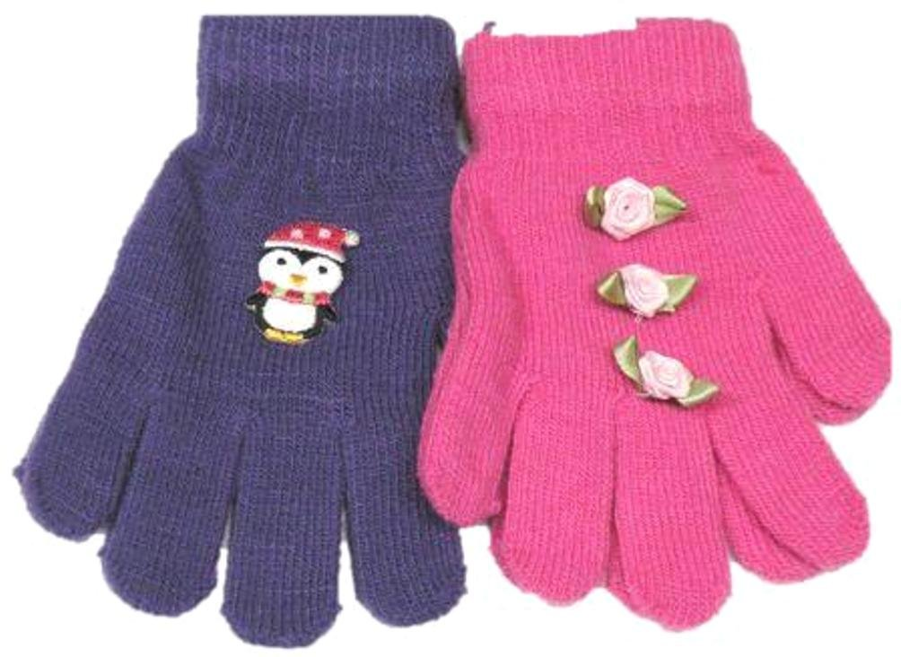 Two Pairs Magic Gita Gloves with Carnations for Infants Ages 0-24 Months