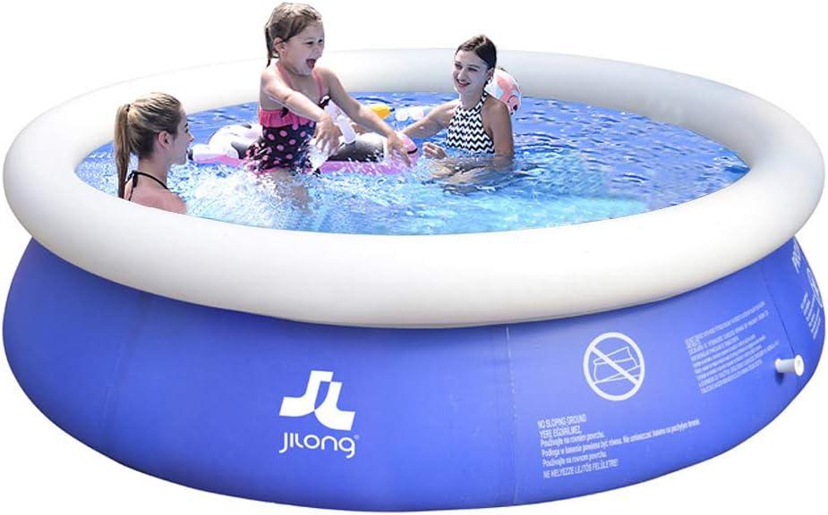 MANPATEL Piscinas hinchables Piscinas para niños Fast Set Piscina Desmontable Redonda 240 * 63cm