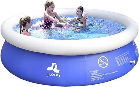 MANPATEL Piscinas hinchables Piscinas para niños Fast Set Piscina Desmontable Redonda 180 * 73cm