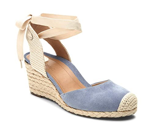 4a5772241e26 Vionic Women s Aruba Maris Lace-up Wedge Blue 5M