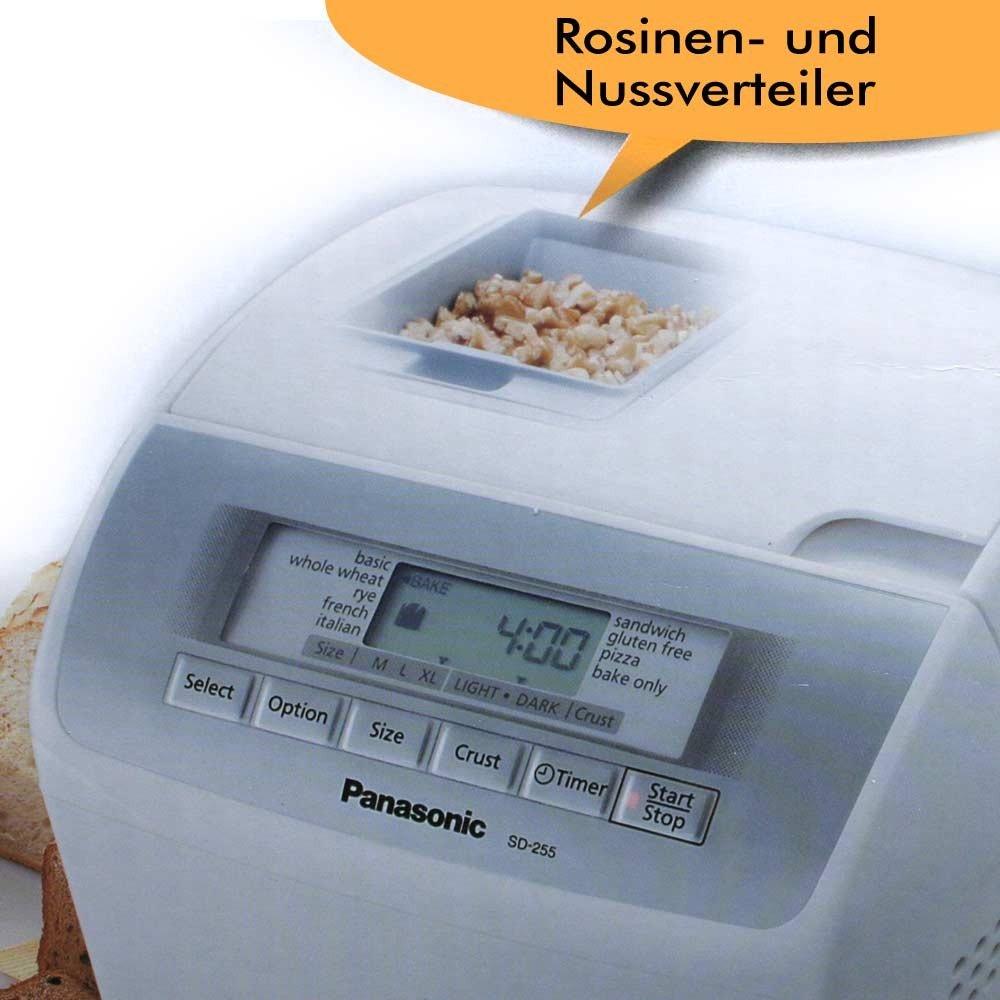Panasonic SD-255 - Panificadora (Blanco, 1,2 kg, Sensor, 505 W, 6 ...