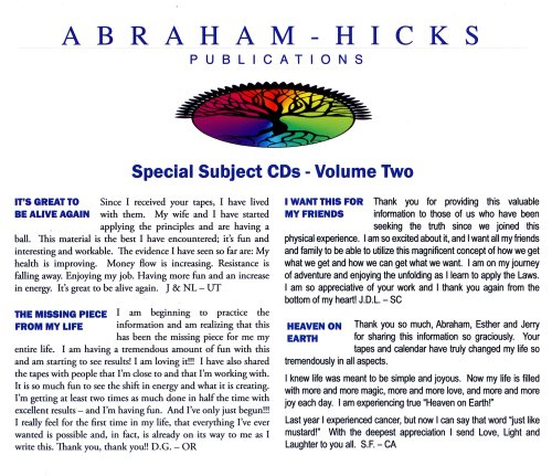 Abraham-Hicks Special Subjects Vol. 2 pdf