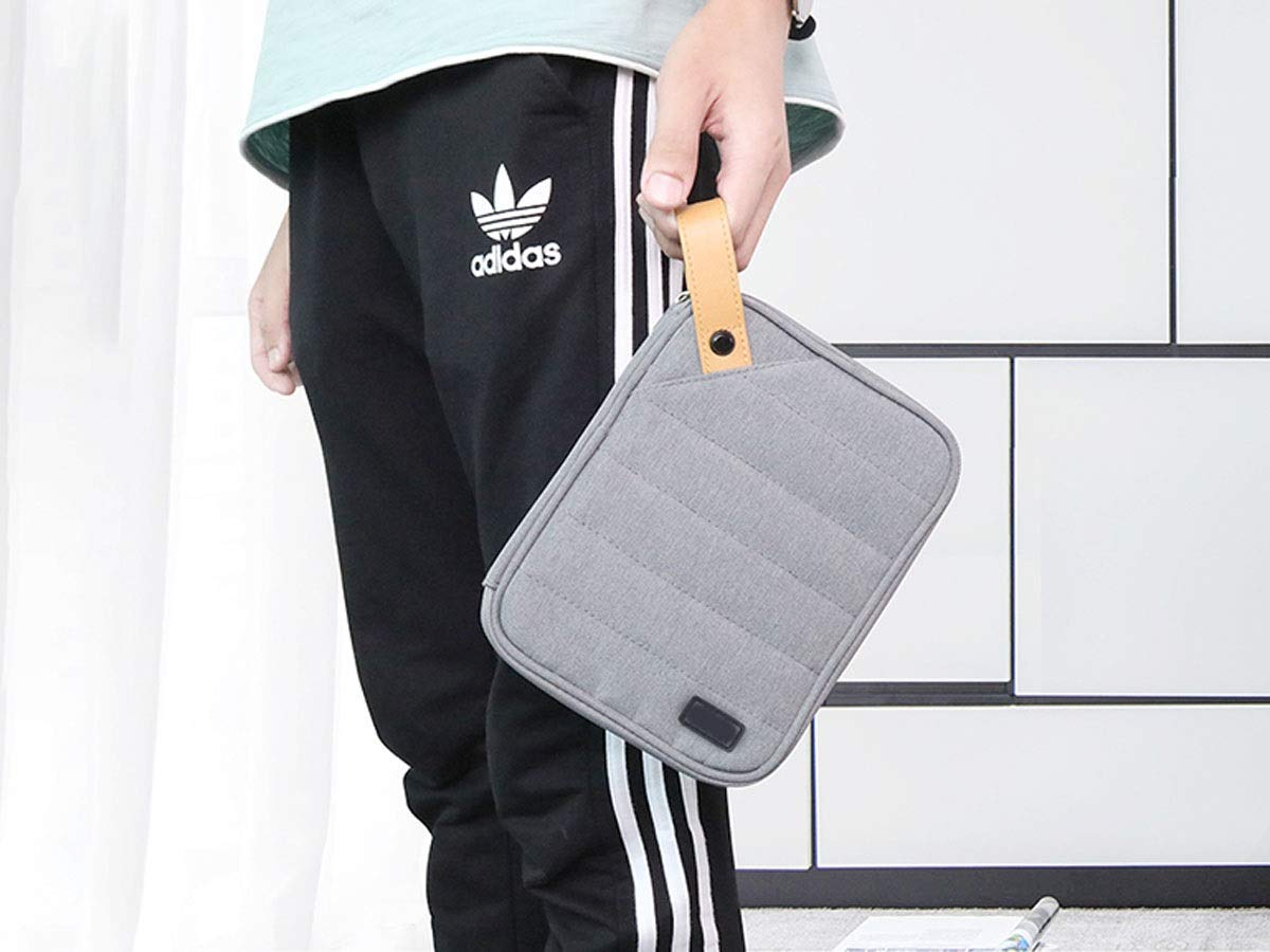 Kaiyitong Electronic Organizer,Accessories Organizer,Cable Organizer, Storage Bag for Hard Disk Large-Capacity Accessories, Finishing Package, sub-Package is not Afraid of Chaos, Anti-Wrinkle,Black d by Kaiyitong (Image #3)