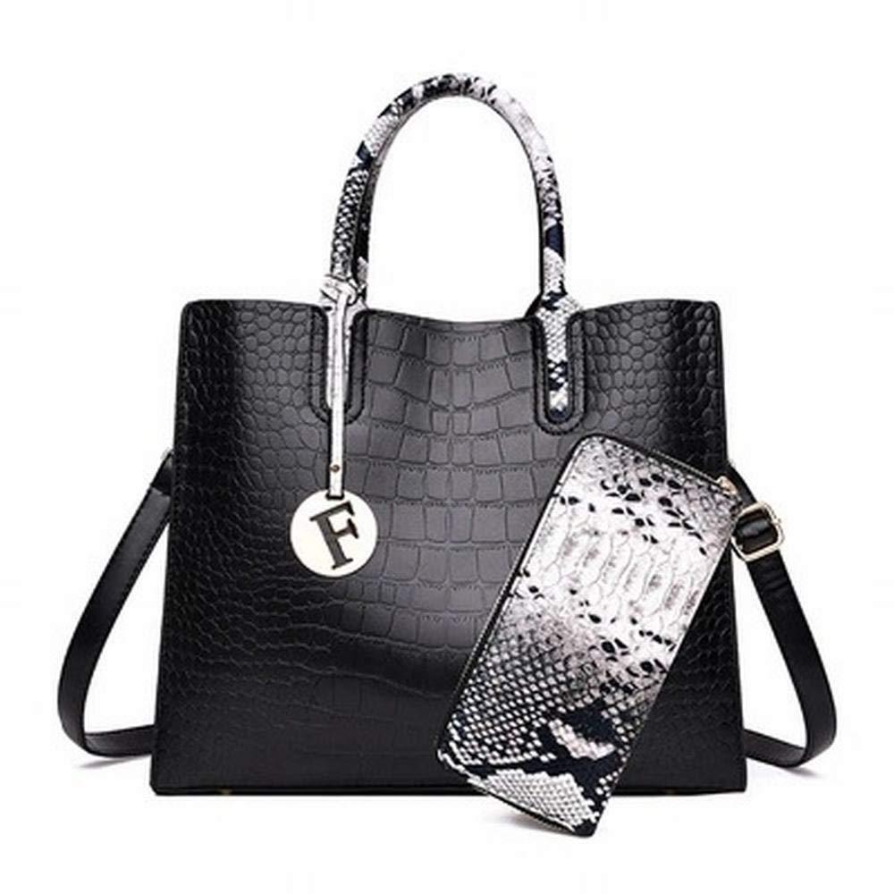 FELICIOO FELICIOO FELICIOO Damen Umhängetasche Crossbody Bag Piece Suit Weiblichen Beutel Diagonal Handtaschen (Farbe   Schwarz) B07Q7GLBKN Umhngetaschen Authentische Garantie b050b1