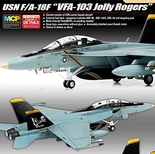 "1/72 Usn F/A-18F""Vfa-103 Jolly Rogers"" / Academy Model Kit / #12535"
