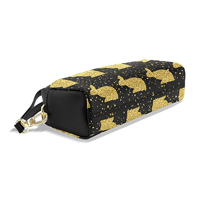 82a698564619 Amazon.com: Vantaso Pencil Case Makeup Bag Golden Sparkle Glitter ...