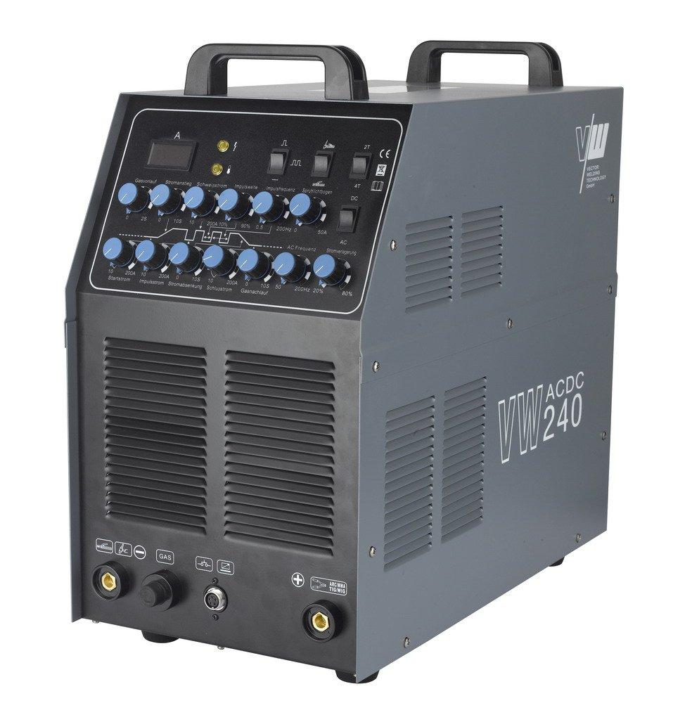 VECTOR Schweißgerät AC/DC WIG VW240 Puls ALU Inverter MMA Elektrode ARC WELDER: Amazon.es: Bricolaje y herramientas